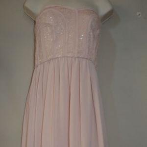 BCBG MAXAZRIA Strapless Sequin Bare Pink 10 #411 Dresses - BCBG MAXAZRIA Strapless Sequin Bare Pink 10 #411